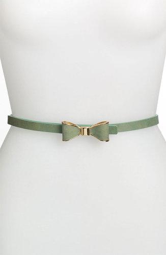 Tarnish Skinny Suede Bow Belt
