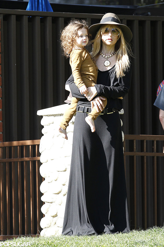 Rachel Zoe Slides With Skyler During Park Playtime