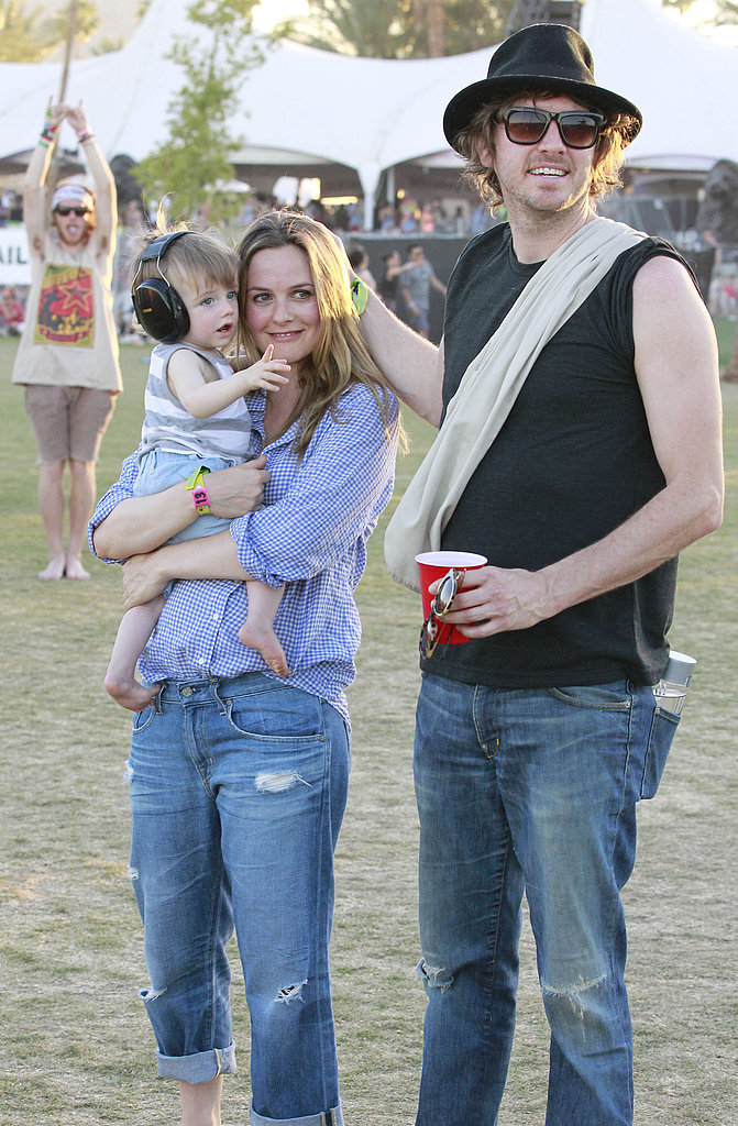 Alicia Silverstone and Christopher Jarecki brought Bear Blu Jarecki to the festival in 2012.
