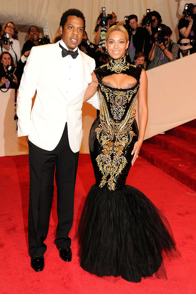 At the 2011 Met Gala, Beyoncé and Jay-Z proved one stylish couple. She donned a fishtail-hemmed gown by Emilio Pucci, and he suited up in a white-and-black look.