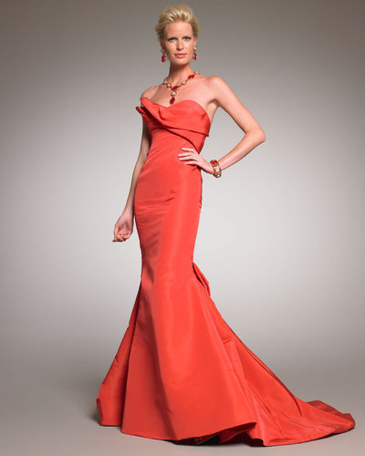 Oscar de la Renta Strapless Mermaid Gown