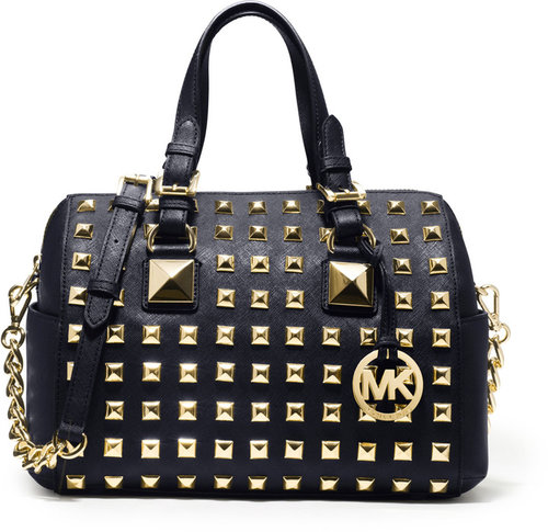 MICHAEL Michael Kors  Medium Grayson Studded Satchel