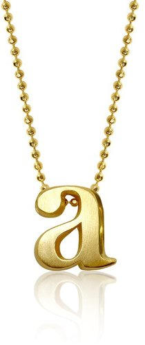 Alex Woo Gold Alpha Pendant (Ships 3 Weeks From Order Date)