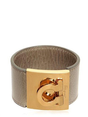 Embossed Logo Leather Bracelet