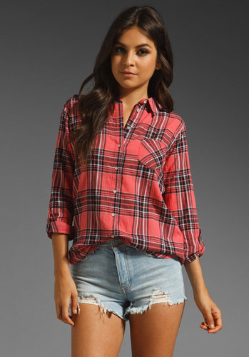 C&C California Canyon Plaid Roll Sleeve Shirt