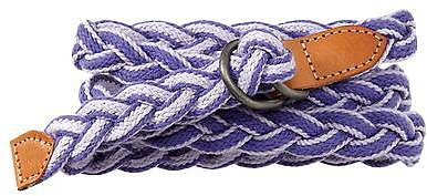 Braided canvas belt