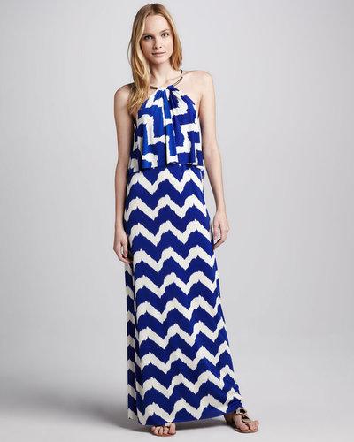 T Bags Halter Maxi Dress