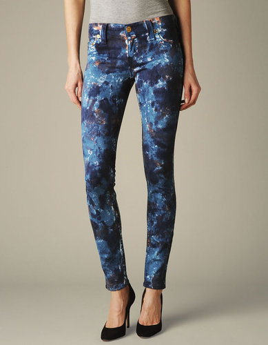Womens Halle Cosmo Print Jean - (groovy Tie Dye Royal Blue)