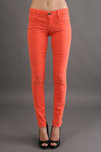 Earnest Sewn Esra Mid Rise Skinny in Coral
