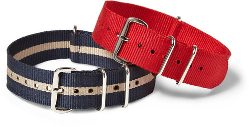 Timex x J.Crew Set Of Two Grosgrain Watch Straps