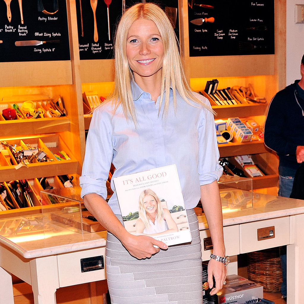 gwyneth paltrow book signing at williamssonoma in nyc