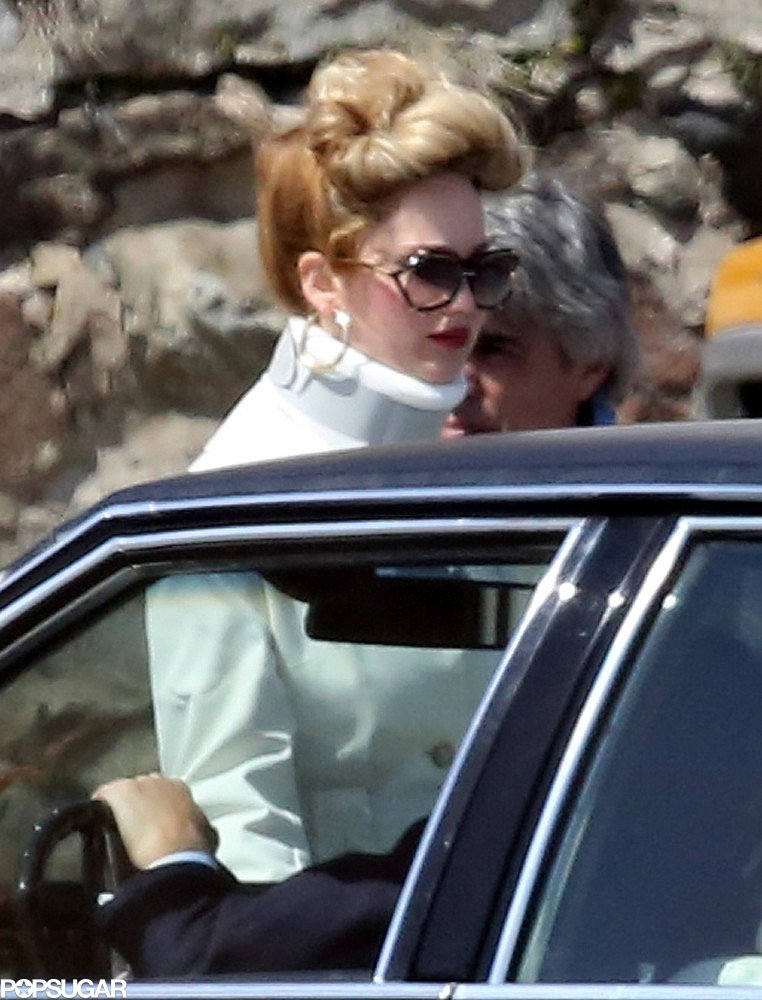 Jennifer Lawrence wore a neck brace on the set of her latest project.