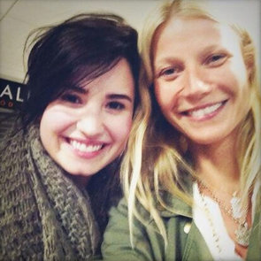 Gwyneth Paltrow and Demi Lovato at LAX Airport