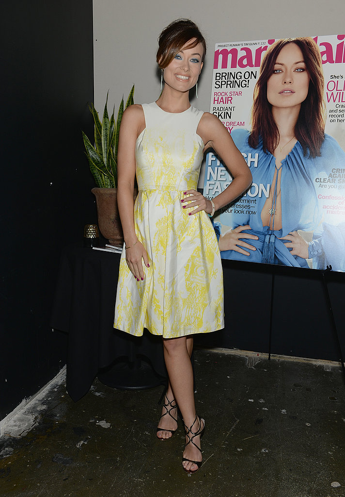 Olivia Wilde Goes Glam in NYC as Her New Rush Trailer Drops