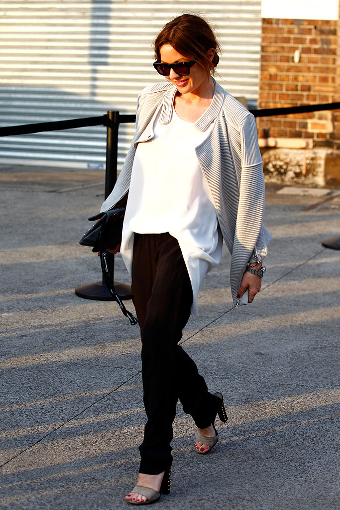 This Fashion Week attendee showed us the chicest way to work Spring's slouchy trend.