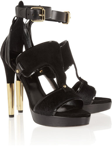 Maiyet Suede and calf hair sandals