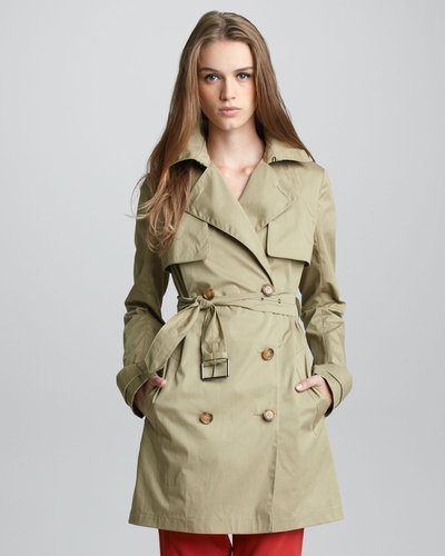 Vince Short Twill Trenchcoat
