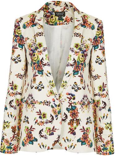 Pixel Floral Blazer
