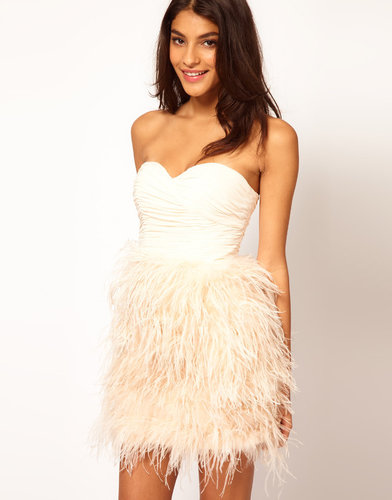 Opulence England Chiffon Bandeau Feather Dress