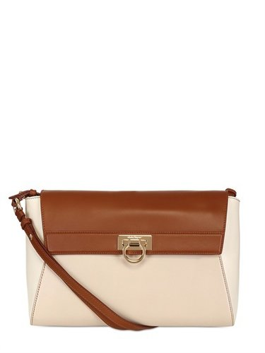 Abbey Tricoloured Leather Shoulder Bag
