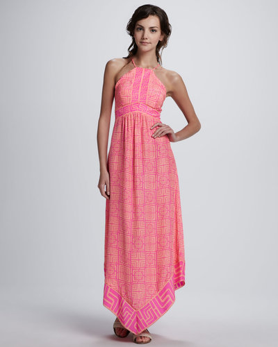 Alice & Trixie Lara Printed Halter Maxi Dress