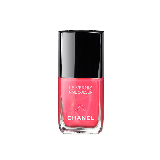 Chanel Le Vernis in Fracas ($27) is the brightest new polish from the brand's Spring collection. This warm bright pink is a timeless pedicure pick.
