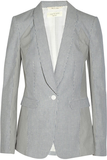 Rag & bone Jefferson striped cotton and linen-blend blazer