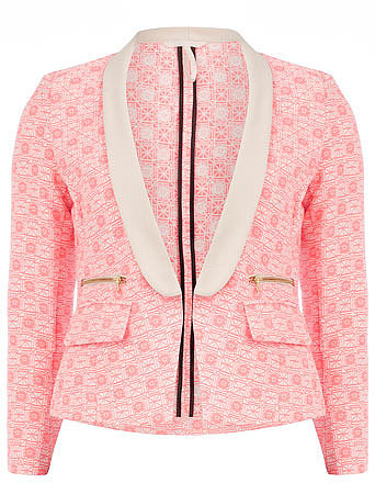 Pink and cream neon blazer