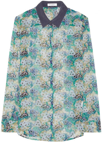 Equipment Earl floral-print silk-chiffon shirt
