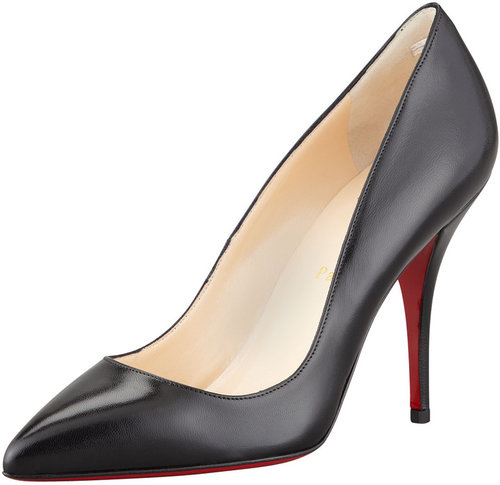 Christian Louboutin Batignolles Leather Pointed Red Sole Pump