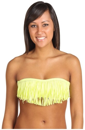 L*Space - Fringe Benefits Dolly Bandeau Top (Citrus) - Apparel