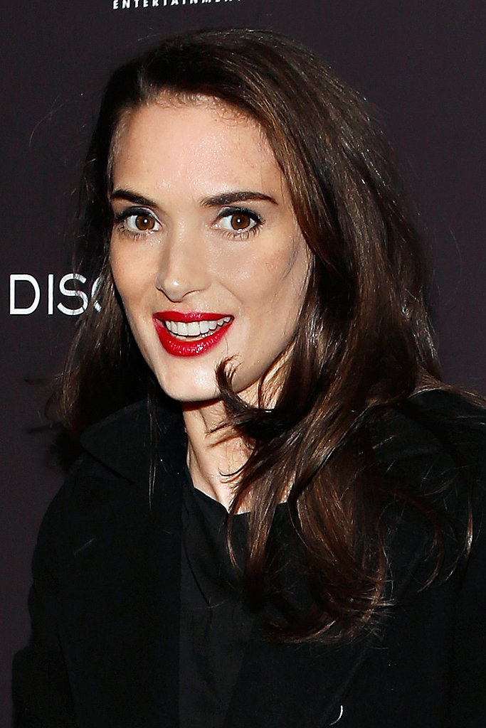 Winona Ryder stunned at the special screening for Disconnect in New York City. Her milky complexion was flawless, and she enhanced the look with red lips, defined brows, and shiny brunette hair.