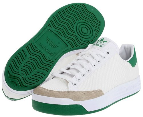 adidas Originals - Rod Laver (White/Green Nylon/Mesh) - Footwear