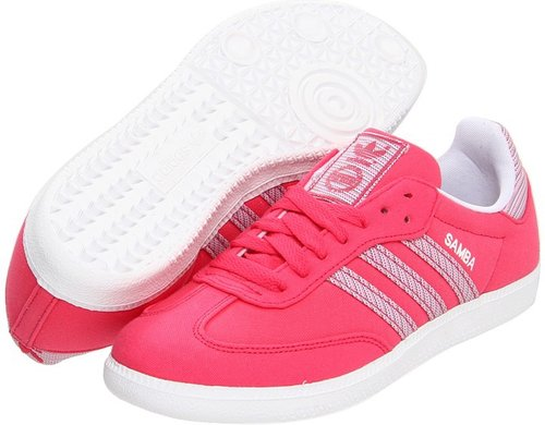 adidas Originals - Samba - Canvas (Super Pink/White) - Footwear