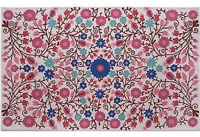 4 x 6' Pink Garden Floral Rug