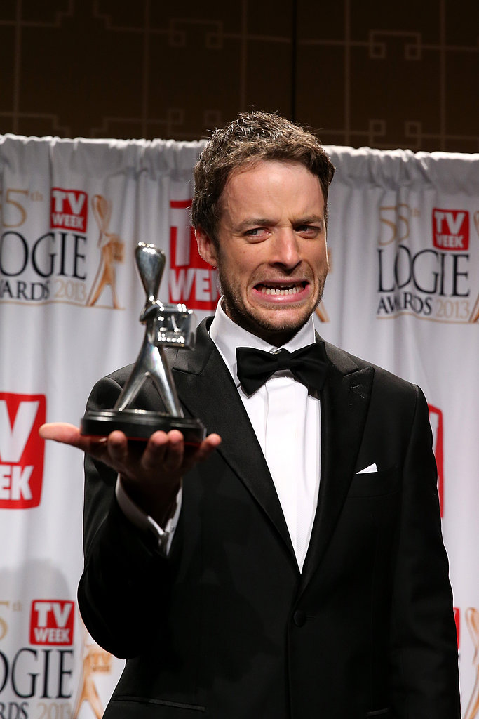 Hamish Blake scooped the award for Most Popular Presenter — beating his co-host, Andy Lee, again — at the Logies on Sunday.