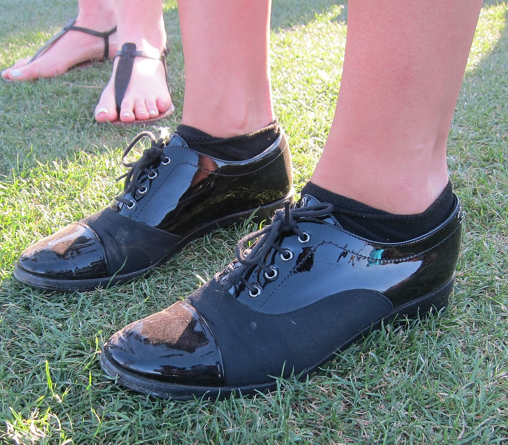A pair of Chanel patent leather spectators were an unexpected sighting on the polo fields.
