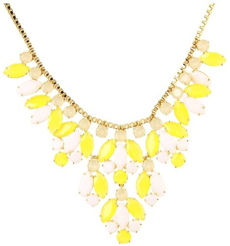 Kate Spade New York - Marquee Statement Necklace (Yellow/Tan/White Multi) - Jewelry