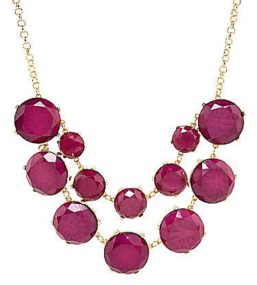 Natasha Faceted Round Statement Necklace