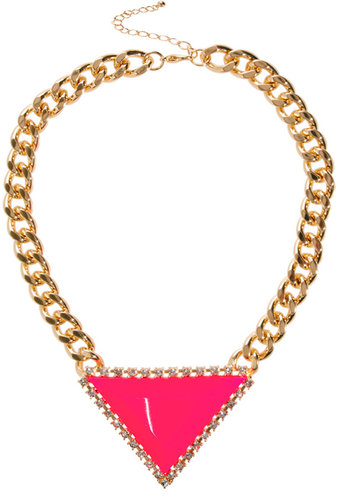ASOS Curb Chain Triangle Necklace
