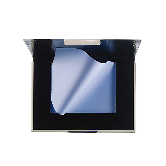 Whip out your Blot Film by MAC Cosmetics ($16) when you want a matte finish without the powder.