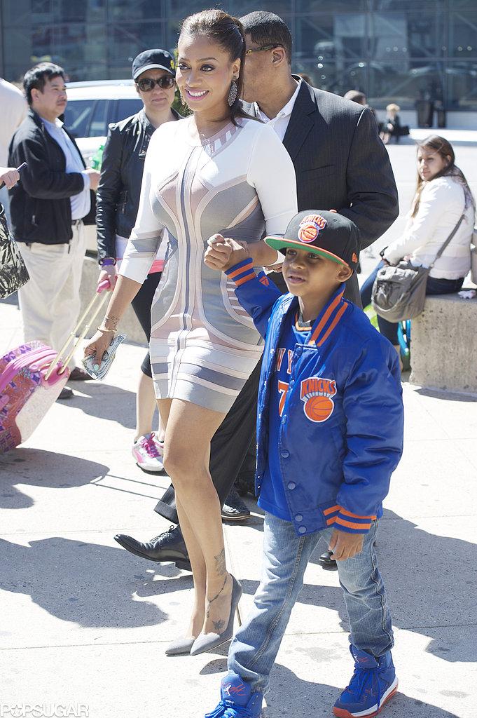 La La Anthony and her son Kiyan grabbed ice cream in NYC on Sunday.