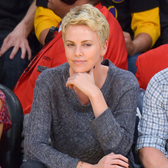 Charlize Theron at a Lakers Game in LA