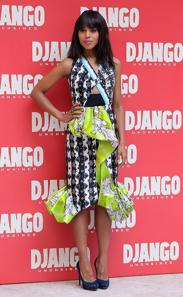 Kerry Washington dropped jaws in this digital-print Peter Pilotto dress at a Django Unchained photocall in January.