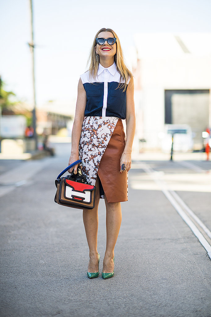 Natalie Joos experimented with print and bold colorblocking. Source: Le 21ème | Adam Katz Sinding