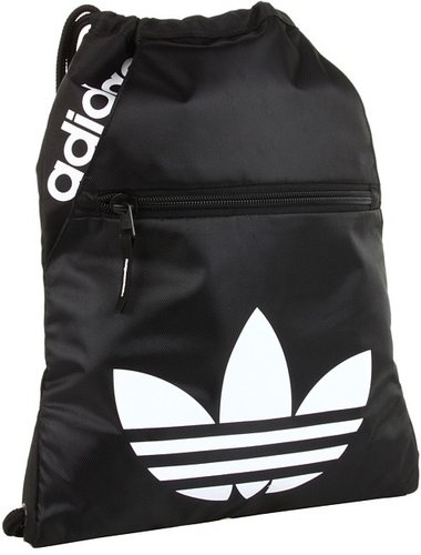 adidas - Originals Slater Sackpack (Black/White) - Bags and Luggage
