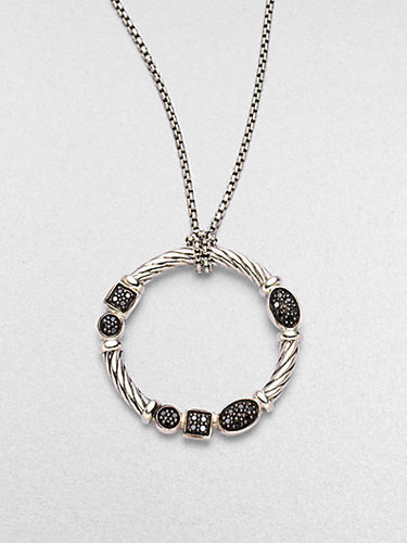 David Yurman Black Diamond & Sterling Silver Necklace