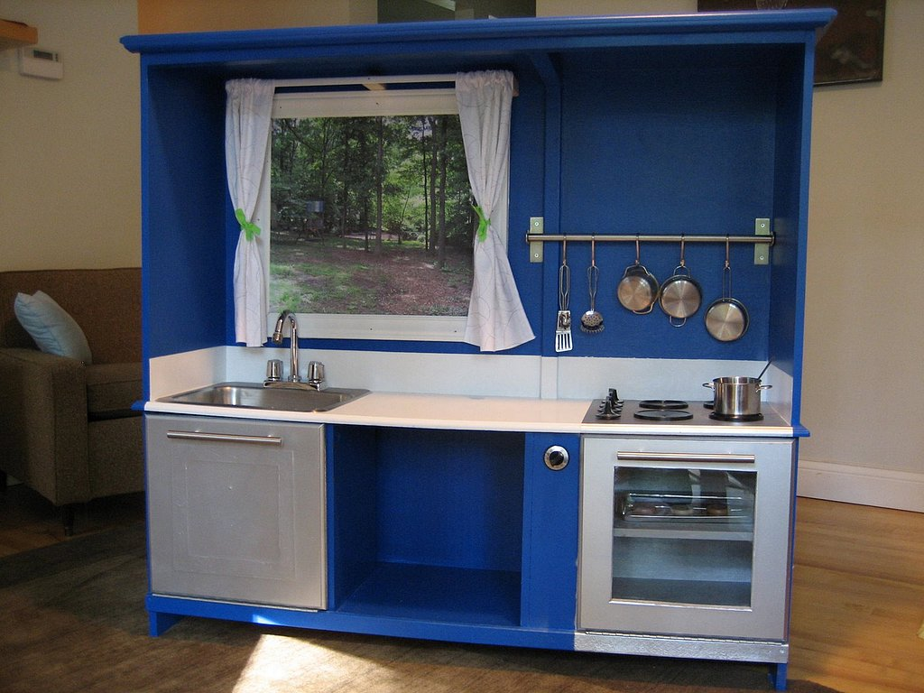 The After: A Blue Kitchen With a View