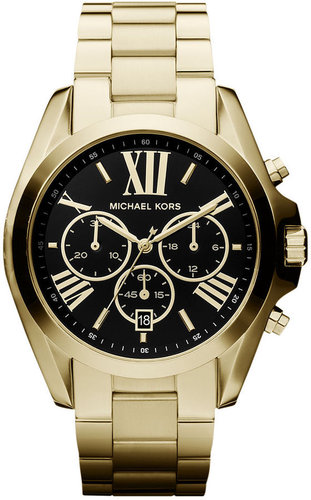 Michael Kors Watch, Women's Chronograph Bradshaw Gold-Tone Stainless Steel Bracelet 43mm MK5739 - First @ Macy's!