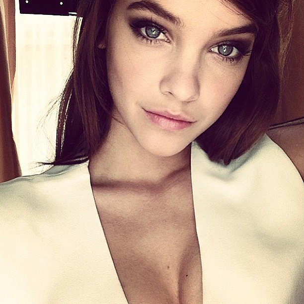 Barbara Palvin shared a sexy close-up while on set for Victoria's Secret. Source: Instagram user barbarapalvin_